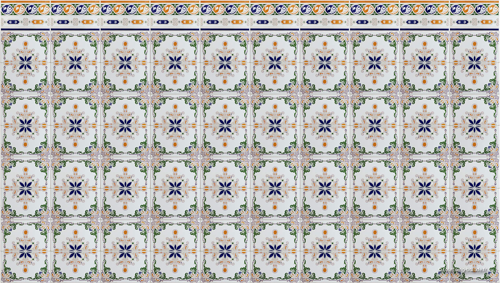Mosquée Assalam Tourcoing - Carrelage arabesques