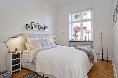 habitación nórdica blanca