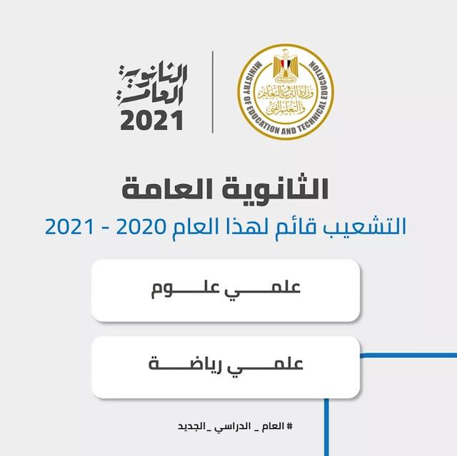 هل يوجد تشعيب للثانوية العامة 2021