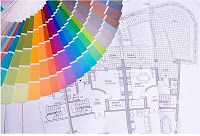 Building Plans and Color Swatches