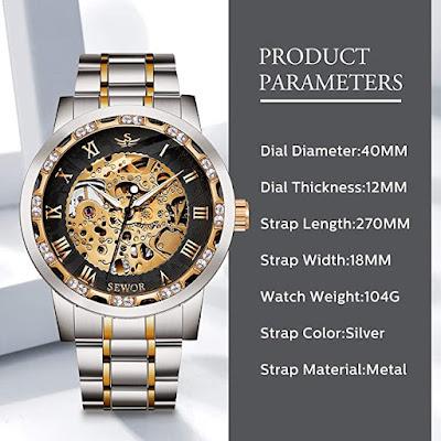Fashion Stainless Steel Steampunk Dress Watch