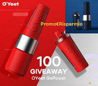 Logo Vinci gratis uno dei 100 frullatori OYeet GoPower in palio! ( 10 secondi per un frullato)