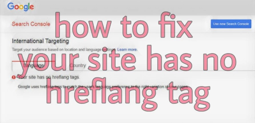How to fix Your site has no hreflang tags problem