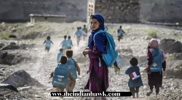 Some Afghani Children going to school