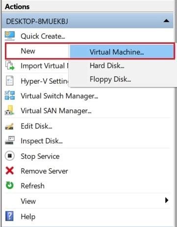 Klik New Virtual machine | gaptogeek