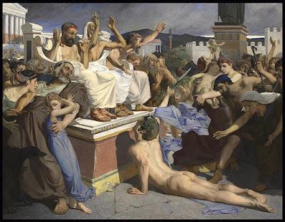 Fidípides anuncia la victoria griega