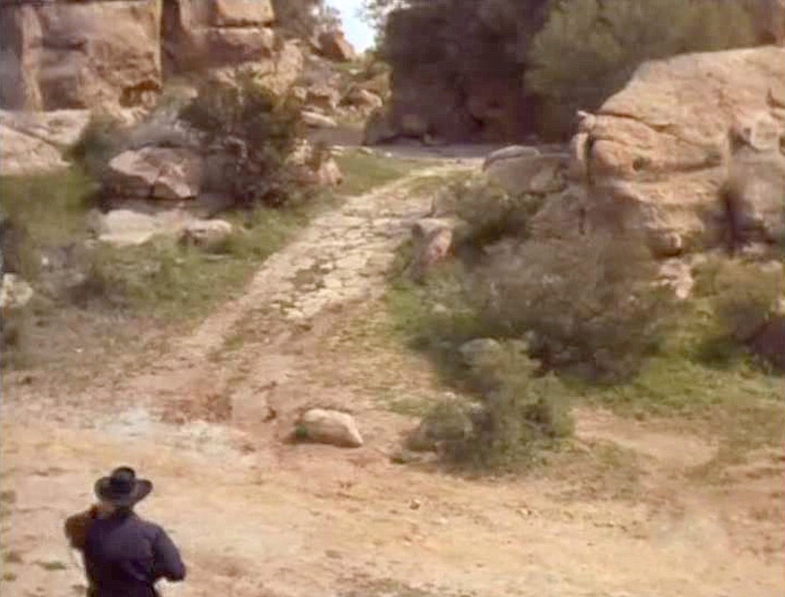 Iverson Movie Ranch: James Coburn roams the Iverson Ranch on \