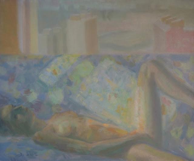 obra de arte impresionista desnudo pintor aragonés Jesús Sus