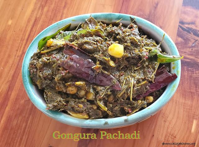 images of Gongura Pachadi Recipe / Gongura Chutney Recipe Andhra Style