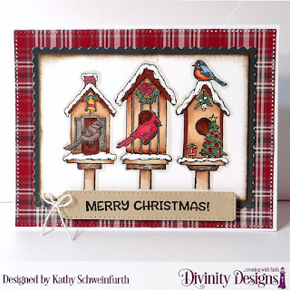 Stamp Set:  Christmas Birdhouses Custom Dies:  Pierced Rectangles, Rectangles, Scalloped Rectangles, Treat Tags Paper Collection:  Rustic Christmas