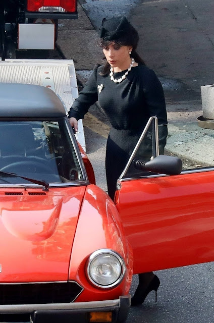 Lady Gaga – 'House of Gucci' set filming in Milan
