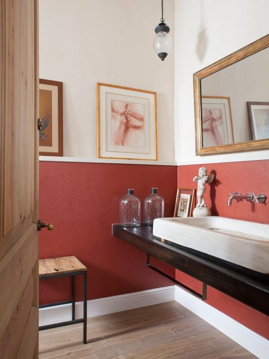 fusión de estilos en el baño chicanddeco