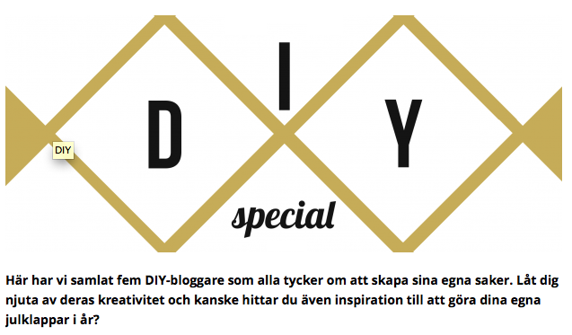 Tipstisdag: DIY-special hos DivineMagazine