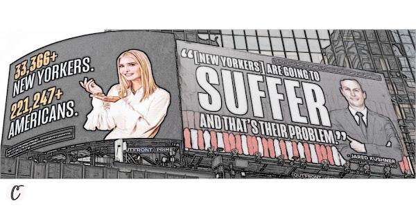 Lincoln Project's Billboard of Ivanka Trump and Jared Kushner