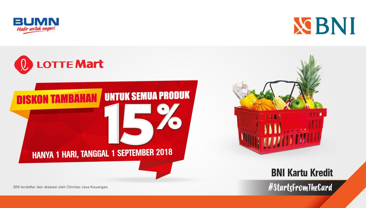 Bank BNI - Promo Diskon 15% All Item di Lotte Hypermarket & Supermarket