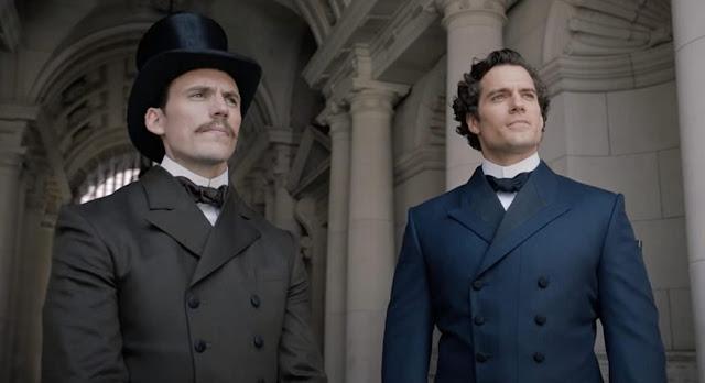 Sam Claflin y Henry Cavill. Foto de Netflix.