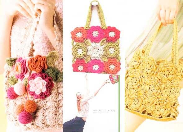 patrones bolsos crochet, gráficos bolsos ganchillo