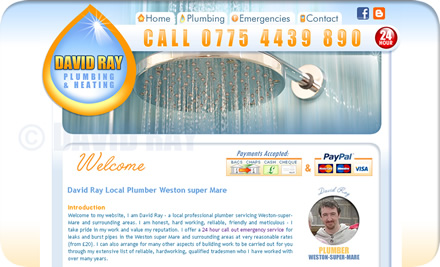 David Ray Qualified Plumber New Website For David Ray Plumber Weston Super Mare