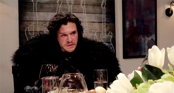 Jon Snow dinner with Seth Meyers