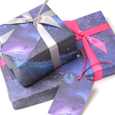 Galaxy Print Wrapping Paper