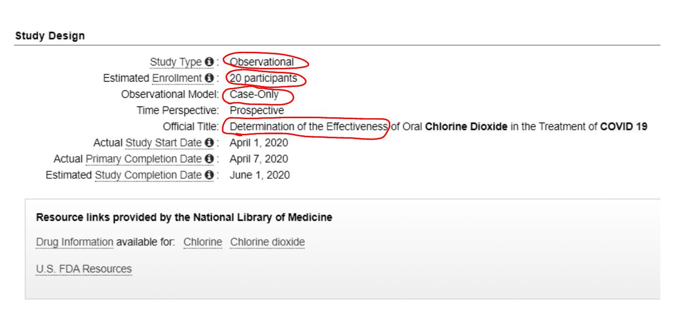 estudio dioxido de cloro ensayo clinico