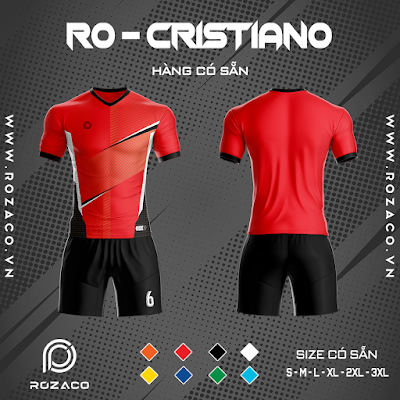 Áo Không Logo Rozaco RO-CRISTIANO Màu Đỏ