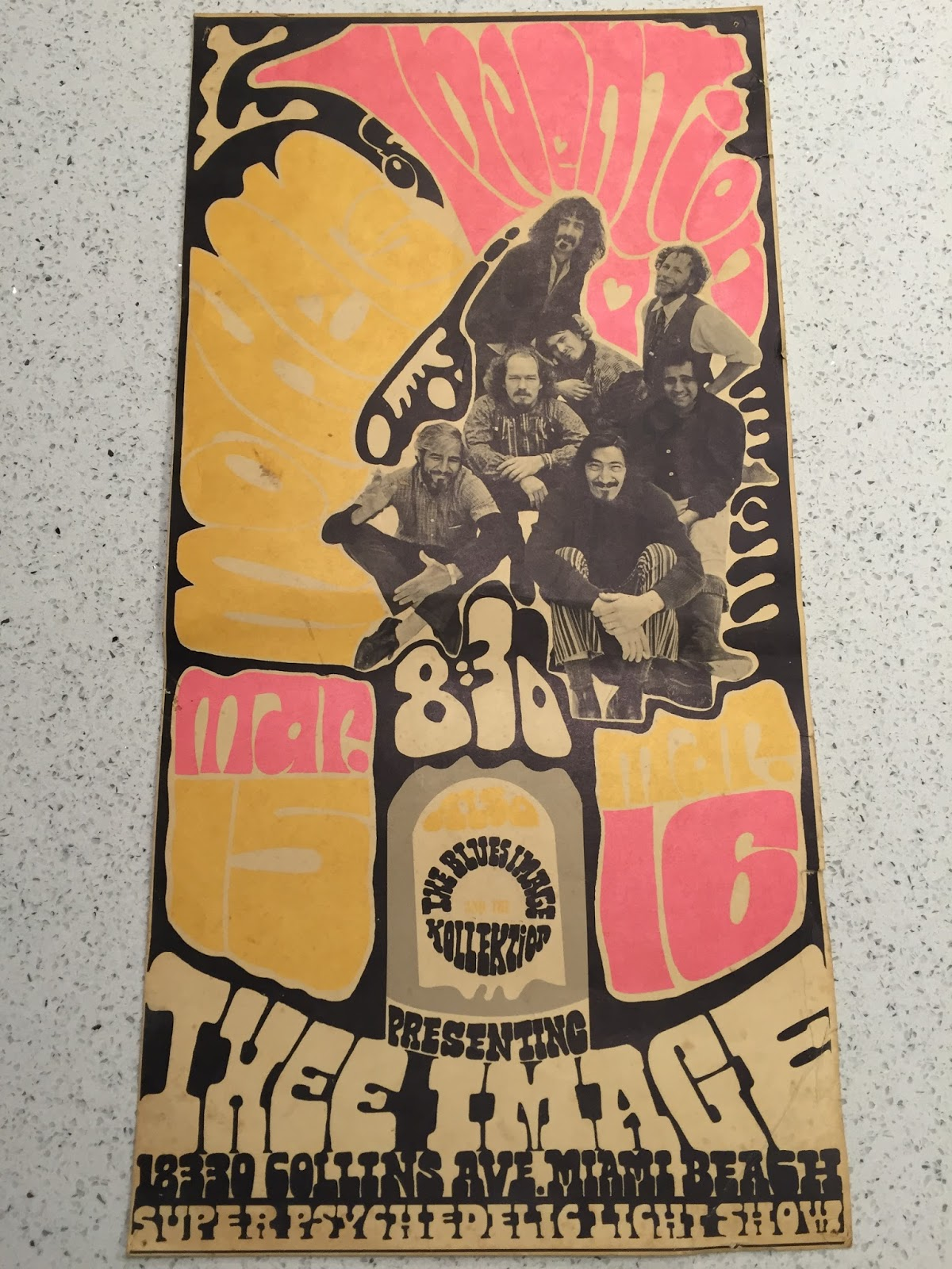 2fc6df7f311 Correspondent Ryan sent in a scan of the poster for the first concert at  Thee Image, The Mothers of Invention on March 15-16, 1968