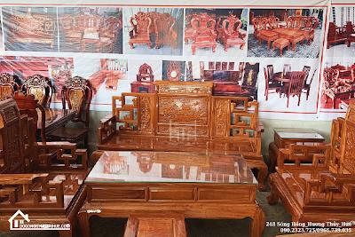 Bàn ghế phòng khách mẫu mới salon gõ đỏ đơn giản bàn ghế giá rẻ