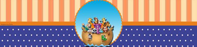 Fiesta de Arca de Noé:  Etiquetas para Candy Bar para Imprimir Gratis.