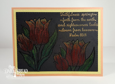 Our Daily Bread Designs Stamp Set: Tulips,Custom Dies: Double Stitched Rectangles, Pierced Rectangles