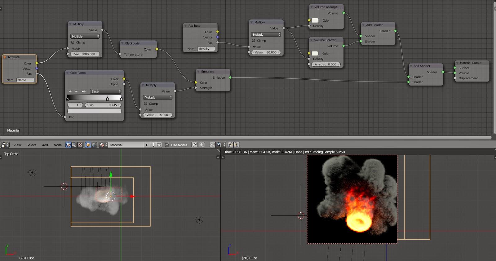 loran: Blender 2 71 Cycle fire and smoke shader