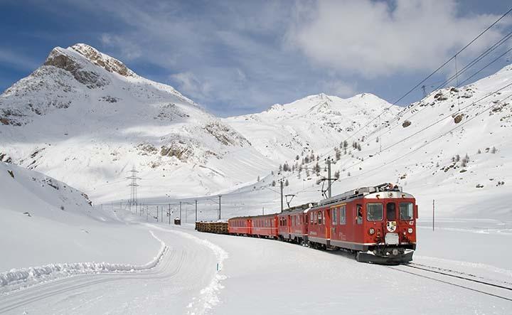 kışın tren resimleri