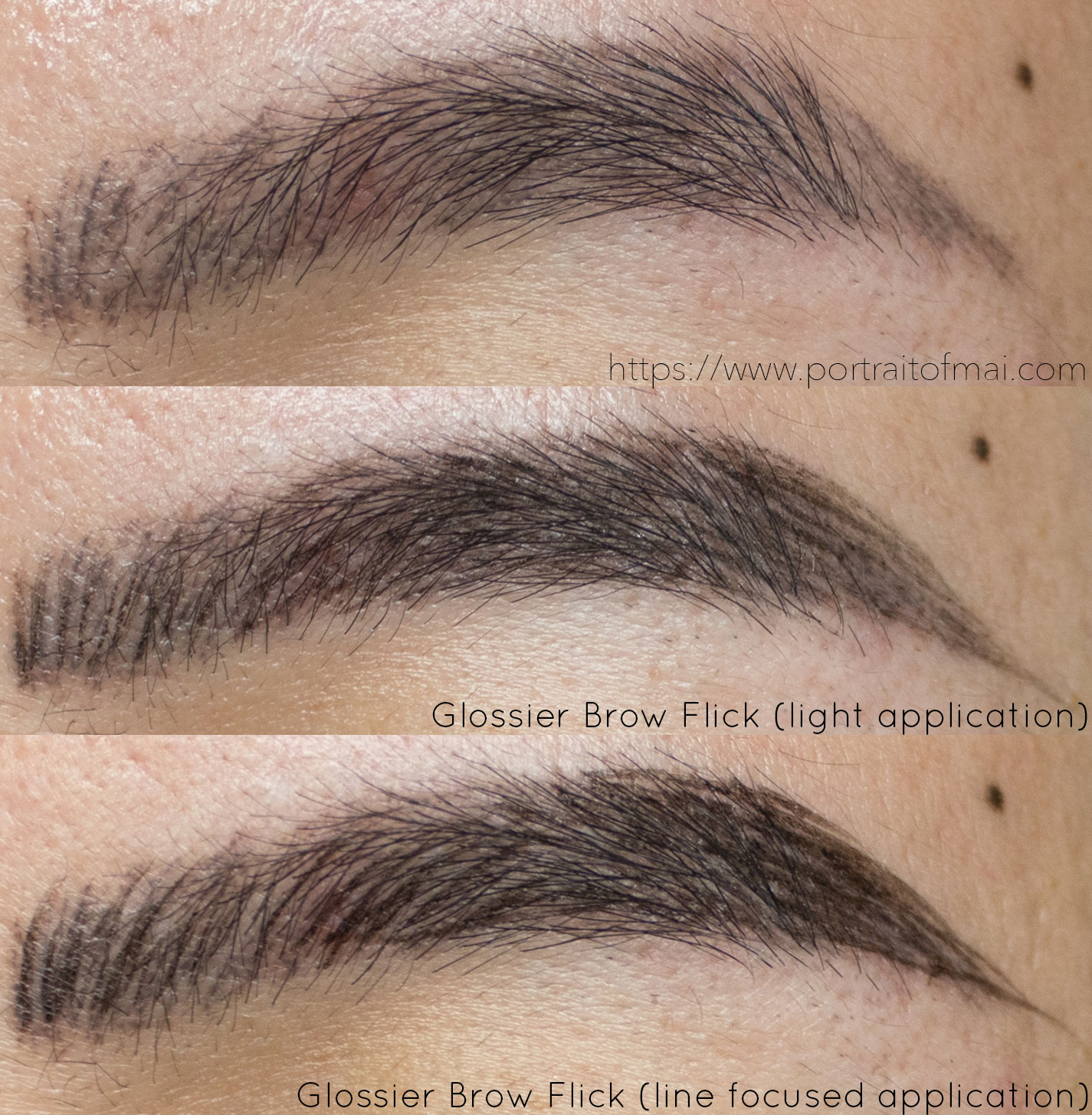 Glossier Brow Flick in Black Swatch