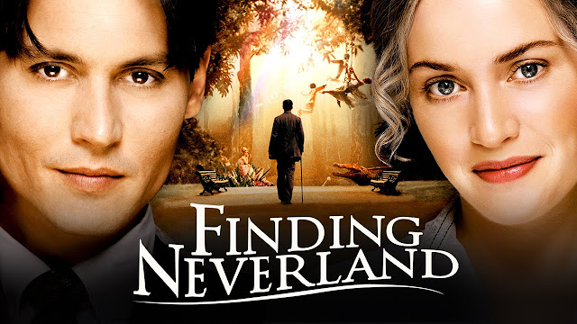 Finding Neverland poster with Johnny Depp and Kate Winslet