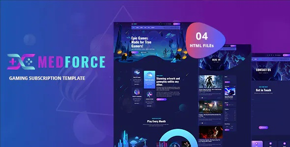 Best Gaming Subscription Website Template
