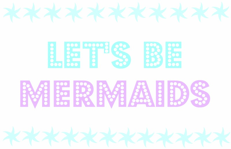 Logo: Let's be mermaids
