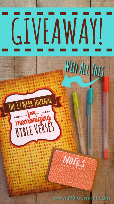 The 12 Week Journal for Memorizing Bible Verses Giveaway Contest March Madness