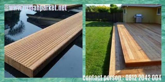 jenis Lantai Kayu Solid Outdoor - decking kayu keruing