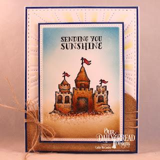 Stamp Set: Sending You Sunshine  Custom Dies: Sunburst Background, Pierced Rectangles, Curvy Slopes