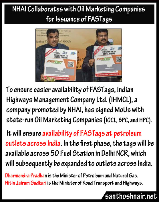 NHAI collaborates with Oil marketing companies for Issuance of Fastags