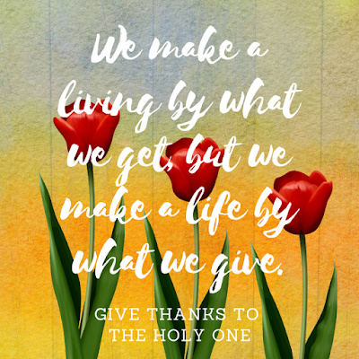 Inspirational Quote September 22 2020 Give Thanks To The Holy One