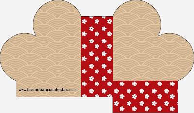 Caja abierta en forma de corazón de Fiesta Estilo Japonés.