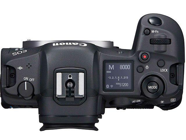 Canon EOS R5, вид сверху