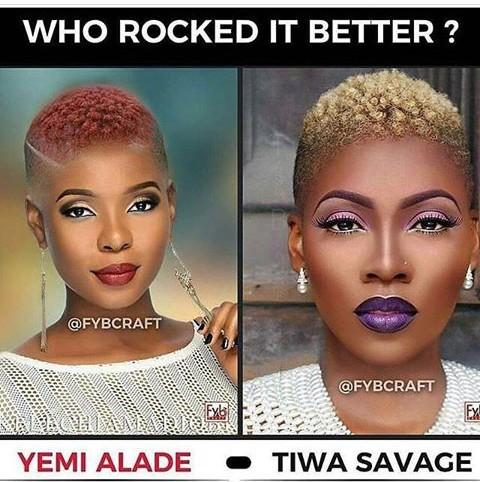 Stella Dimoko Korkus Com Singers Yemi Alade Versus Tiwa Savage