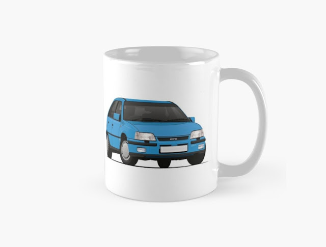 Vauxhall Astra Mk2 GTE 16V - Car coffee mug