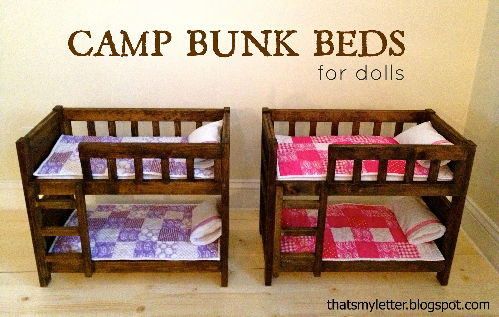 Diy Blog Möbel Diy Doll Size Camp Bunk Beds Jaime Costiglio