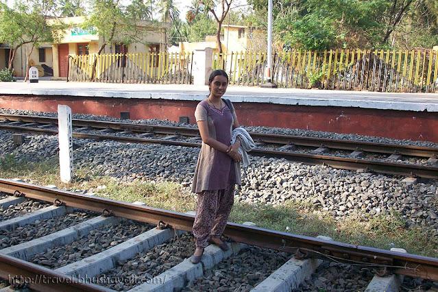 Perugamani railway station, Trichy, Tamil Nadu, India