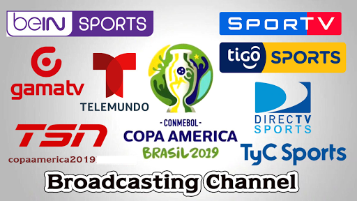 Get live streaming feed or broadcasting TV channels list for all Copa America 2019