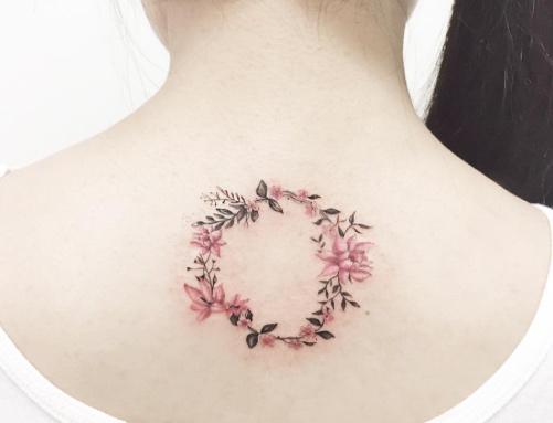 Esta coroa de flores