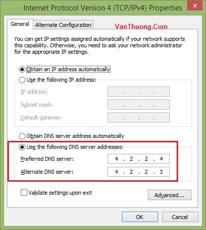 Cách đổi DNS vào Facebook bước #5